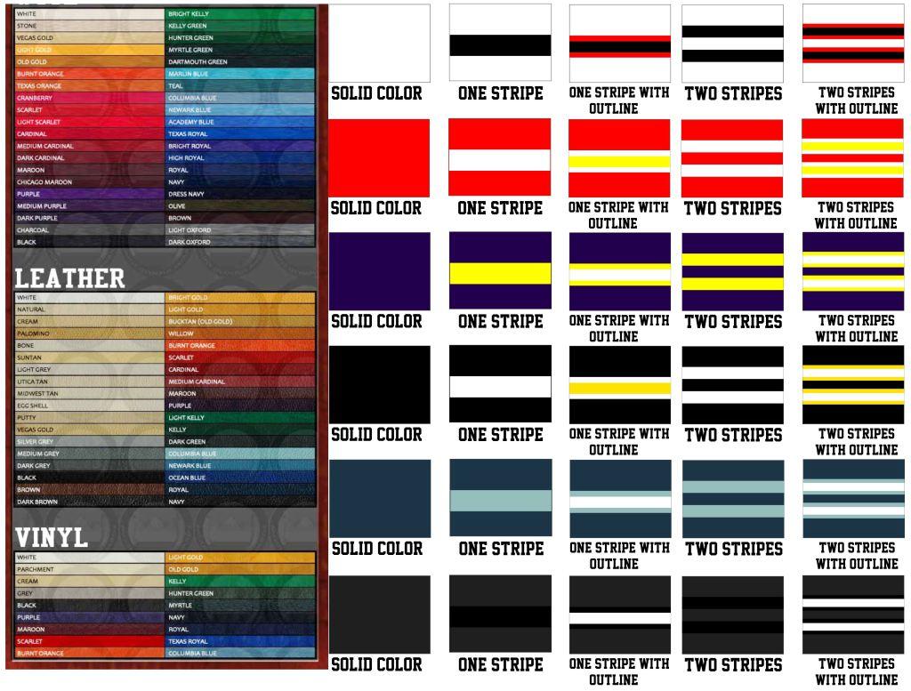 colors wool leather vinyl